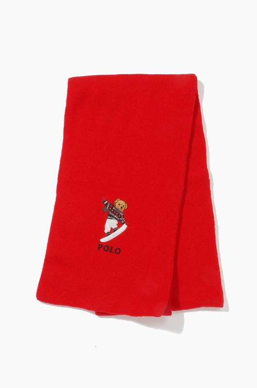 POLO Skate Bear Scarf Red