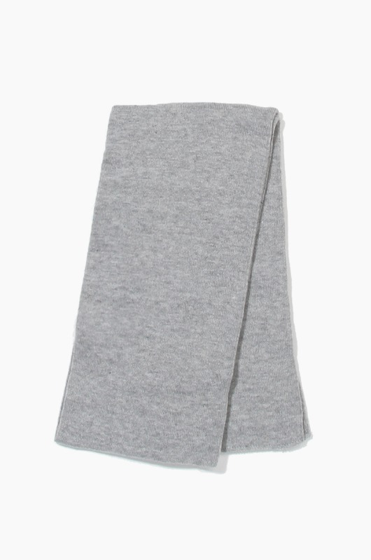 Plain Scarf Solid Knit Scarf H.Grey