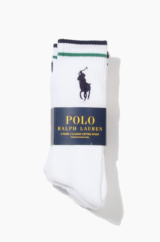 POLO Big Pony Stripe 3Pack Socks Asst