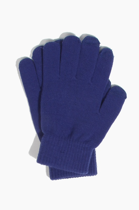 Plain  Spectator Touch Glove Royal