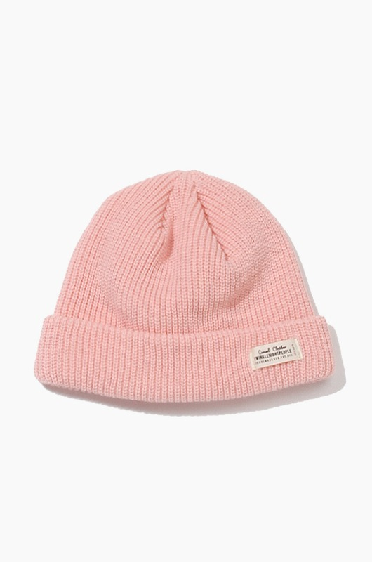 TNP WH Label Watch Cap Pink