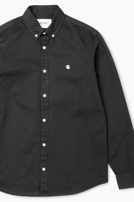 CARHARTT-WIP Madison L/S Shirts Black/Wax