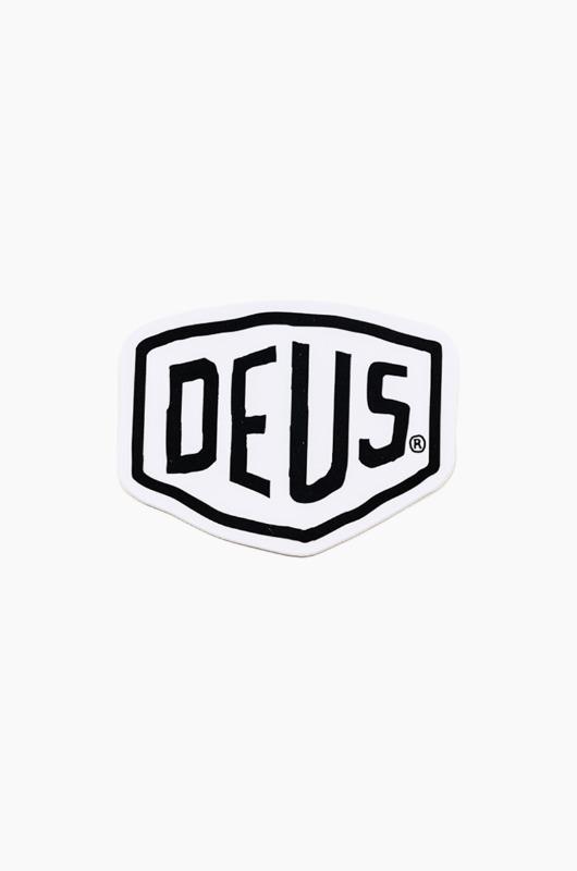 DEUS Vinyl Sticker Shield White