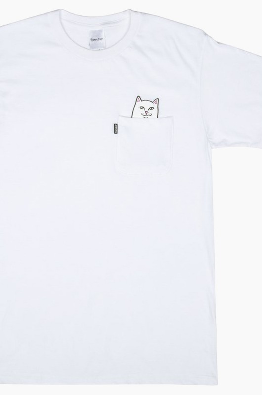 RIPNDIP Lord Nermal Pocket S/S White