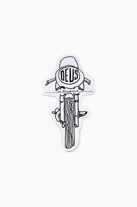 DEUS Vinyl Sticker Frontal White