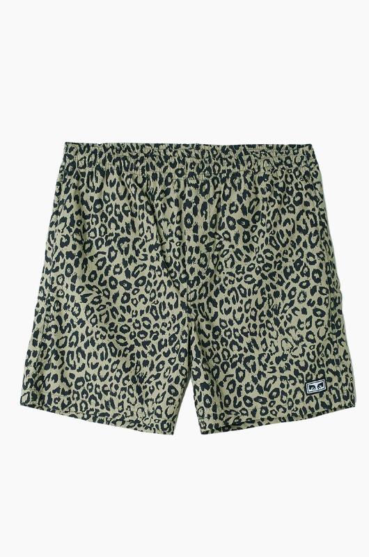 OBEY Easy Short Khaki Leopard
