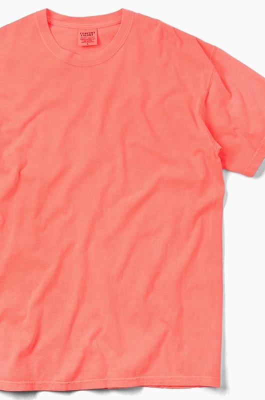 COMFORT COLORS Basic S/S Neon Red Orange