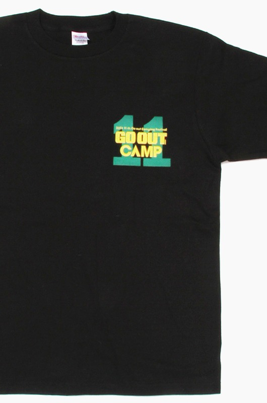 GO OUT 11th GO OUT Camp S/S Black