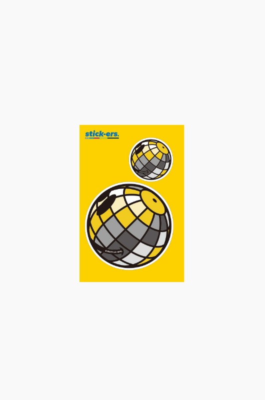 FRESHCUT Disco Ball Sticker Small 007