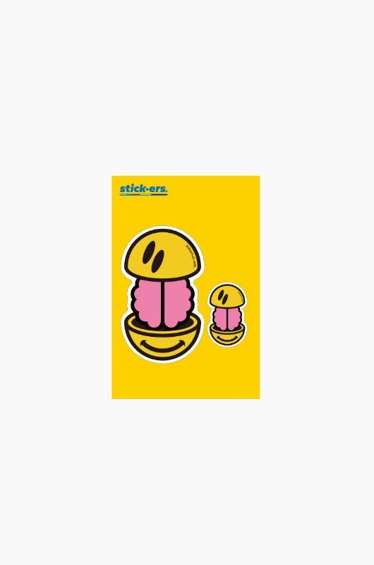 FRESHCUT Brain Smile Sticker Small 010