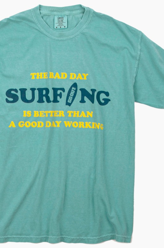 GO OUT Bad Day Surfing S/S Seafoam
