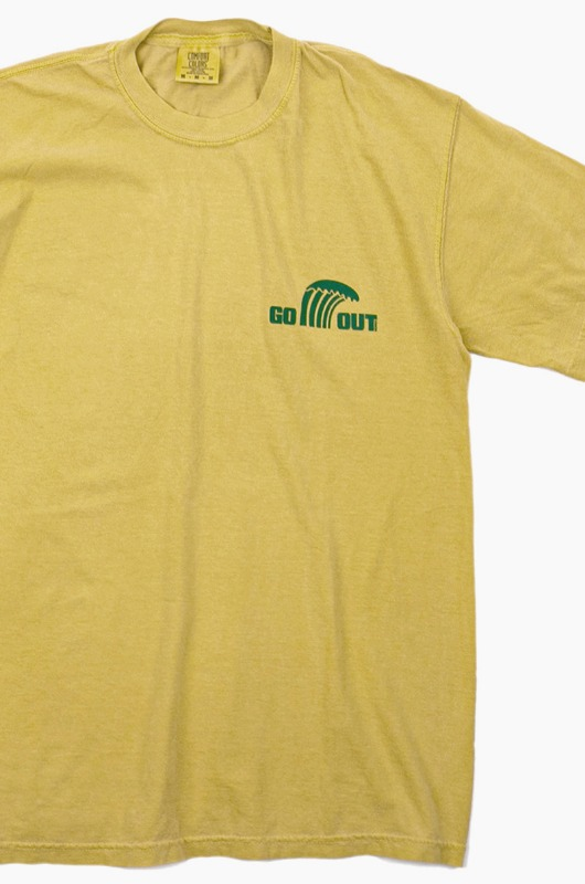 GO OUT Wave Logo S/S Mustard