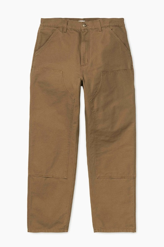 CARHARTT-WIP Double Knee Pant Dearborn Hamilton Brown Rinsed
