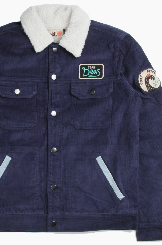 DEUS Goofy Cord Jacket Estate Blue