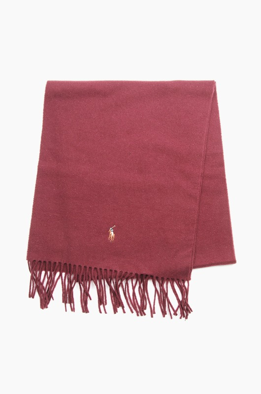 POLO Signature Italian Virgin Wool Scarf Wine