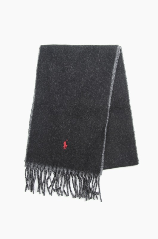 POLO Classic Reversible Scarf Black/Grey