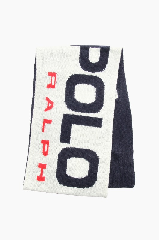 POLO Sport Knit Scarf Cream/Navy