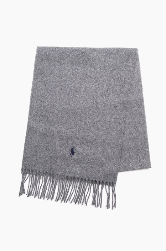POLO Recycled Wool Scarf Grey