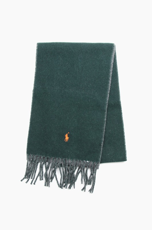 POLO Classic Reversible Scarf Green/Grey
