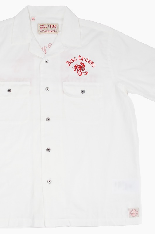 DEUS Smile Back S/S Shirt White Chalk