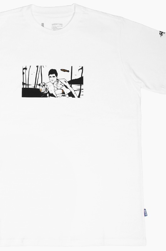HARDHITTERS The Art Drop Scarface S/S White