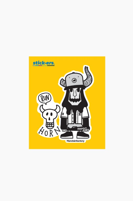 STICK-ERS Running Horns Medium 009