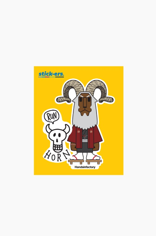STICK-ERS Running Horns Medium 001