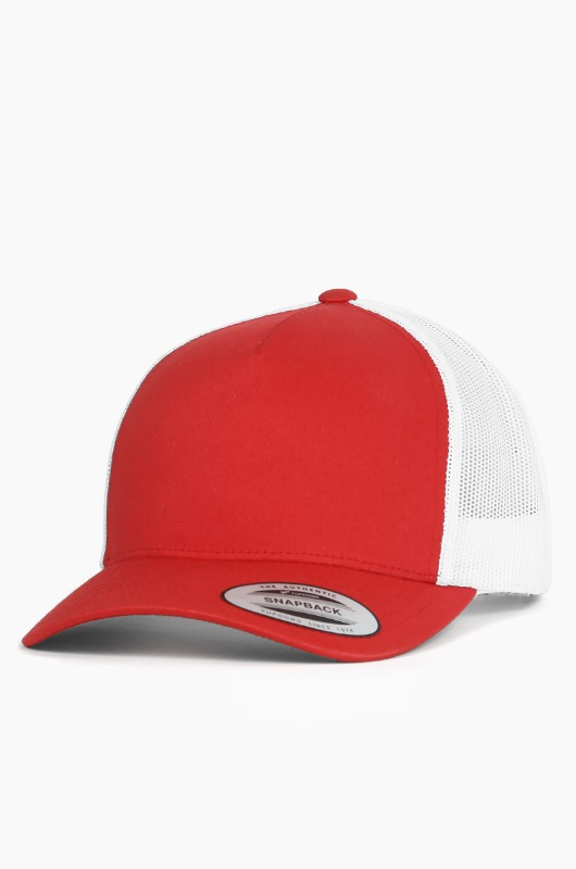 YUPOONG Classic Retro Trucker Cap Red/White