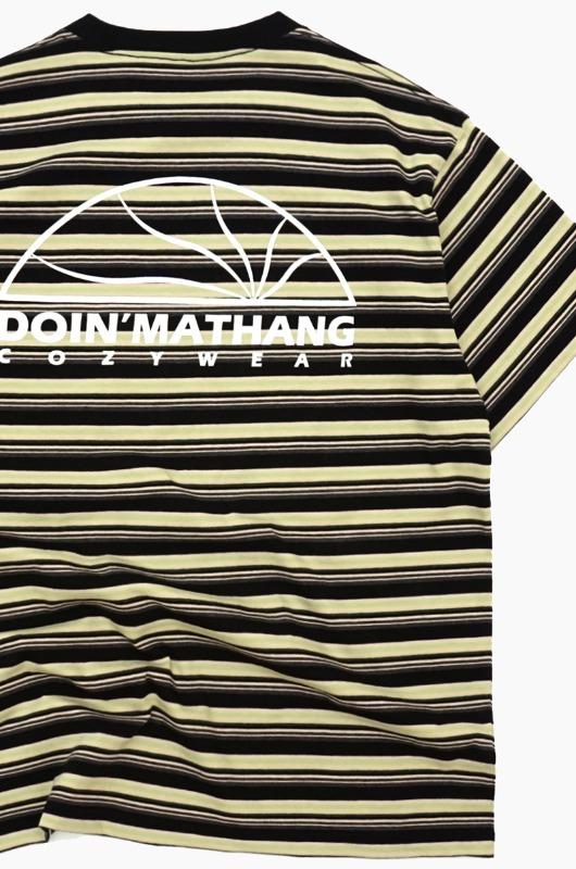 DOIN'MATHANG Half Logo S/S Black Stripe