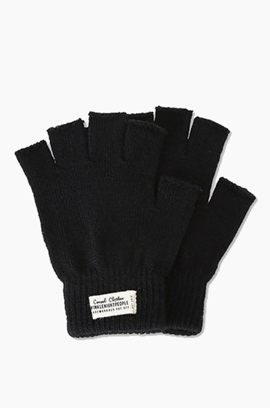 TNP WH Label Fingerless Gloves Black