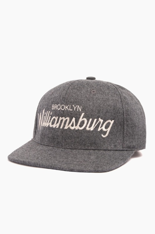 HOODHAT Brooklyn Williamsburg Snapback Grey