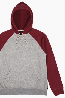 BRIXTON Hull Hooded Fleece H.Grey
