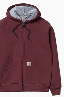 CARHARTT-WIP Car-Lux Hooded Jacket Chianti/Grey