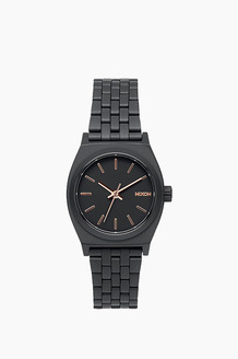 NIXON Small Time Teller All Black/R.Gold
