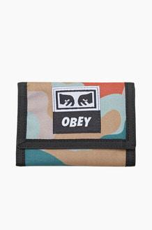OBEY Drop Out Tri Fold Wallet Drip Camo