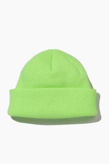 Plain Beanie Standard Neon Green
