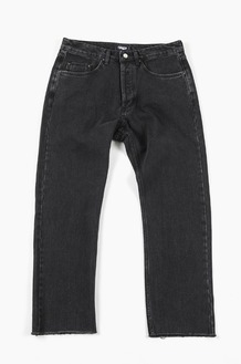 PISCATOR Fin Logo Denim Pants Black