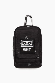 OBEY Drop Out Utility Small Bag Symbol Black