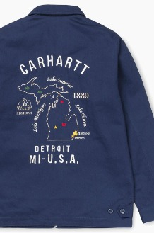 CARHARTT-WIP Lakes Jacket Metro Blue