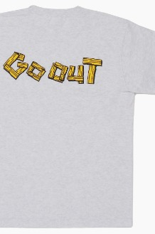 GO OUT Wood Logo S/S Ash