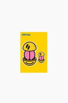 FRESHCUT Brain Smile Sticker Small 010