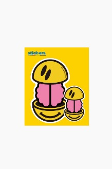 FRESHCUT Brain Smile Sticker Medium 010