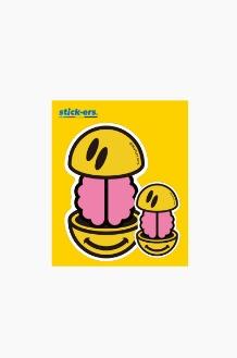 FRESHCUT Brain Smile Sticker Medium 010