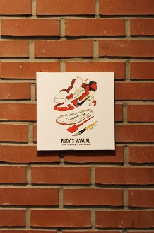RUDYINDAHOUSE Rudy's Manual Artwork Canvas Jordan 25x25