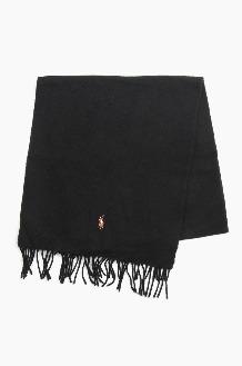 POLO Signature Italian Virgin Wool Scarf Black