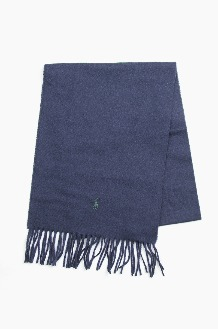 POLO Recycled Wool Scarf Navy