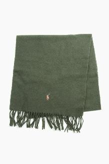 POLO Signature Italian Virgin Wool Scarf Olive