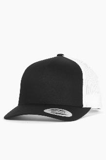 YUPOONG Classic Retro Trucker Cap Black/White
