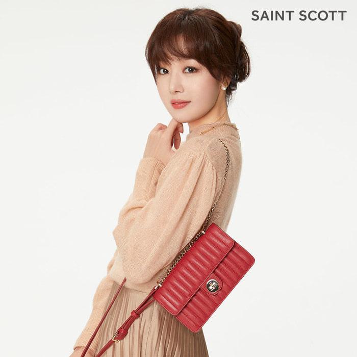 세인트스코트 케이시 퀼팅 SM 숄더백 PRE249 레드
