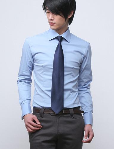 69683 No.126 프리미엄 커프스 셔츠 (Blue)